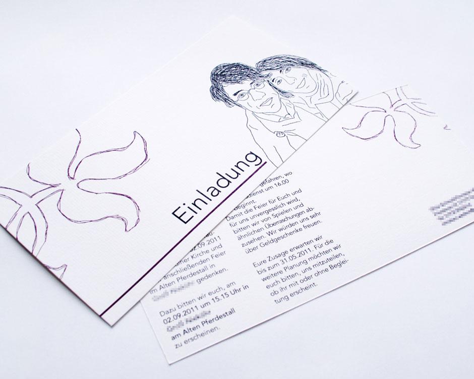 Printdesign GERBODE Grafikdesign Hochzeitseinladung